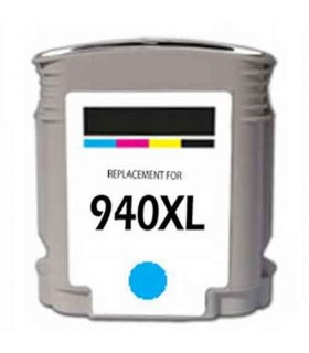 HP 940XL CIAN Cartucho de tinta CYAN compatible hp 940xl 25ML c4907ae