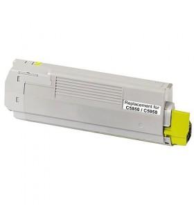 tóner compatible OKI C5850 / C5950 / MC560 AMARILLO 6000C.