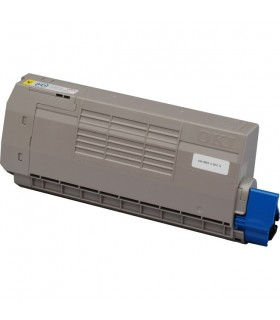 OKI C610 AMARILLO toner compatible 6000 pags.