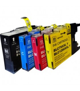 BROTHER LC-1280 COMPATIBLE PACK 4 COLORES