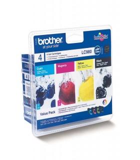pack cartuchos originales Brother LC980 (BK-C-M-Y)