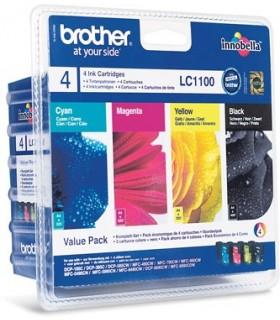 pack cartuchos originales Brother LC1100 (BK-C-M-Y)