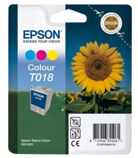 cartucho color original Epson T018