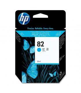 Hp cartucho inyeccion original tinta para impresora cián 82 28ml ch566a