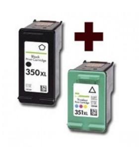 2 tintas x 350xl/351xl Photosmart C4200 C4280 C4380 Officejet J5780