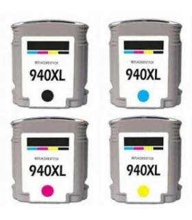 HP 940XL pack cartuchos compatibles alta capacidad HP 940XL BK/C/M/Y (con chip)