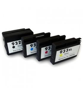 HP 932XL-BK + HP 933XL (C/M/Y) Pack 4 cartuchos compatibles