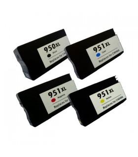 HP 950XL (Negro) + HP 951XL (C/M/Y) pack 4 cartuchos compatibles