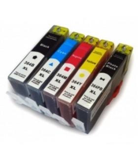 HP 364XL pack 5 cartuchos HP 364xl (negro-negro foto-cián-magenta-amarillo)