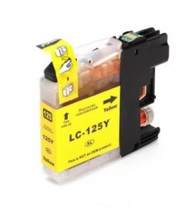 LC125Y BROTHER AMARILLO cartucho compatible amarillo Brother LC125Y Alta capacidad