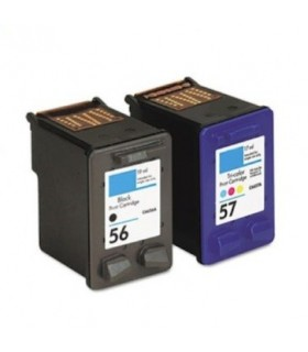 HP 56 + HP 57 pack 2 tintas compatibles HP 56 + HP 57 alta capacidad
