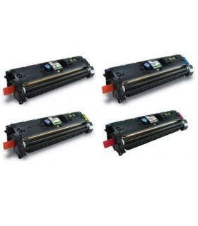 Q3960/1/2/3 HP pack 4 toners compatibles HP Q3960A-Q3961A-Q3962A-Q3963A