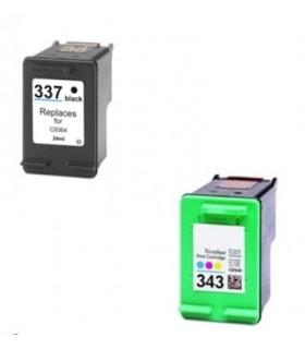HP 337 + HP 343 pack ahorro 2 tintas compatibles