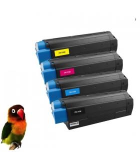 pack OKI c3100- c3200- c5100- c5200- c5300- c5400-C5510   4 tóners compatibles BK-C-M-Y