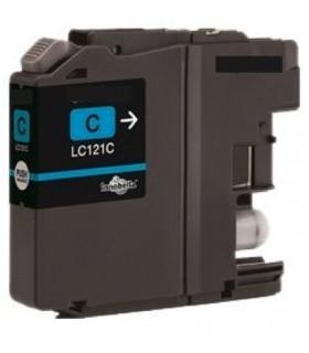 cartucho compatible cián Brother LC121C DCP J152W/J552DW/J752DW MFC J470DW/J650DW/J870DW