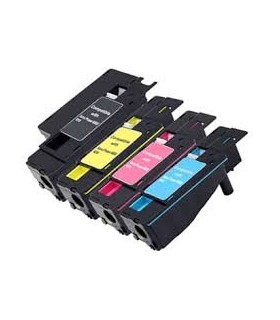 pack 4 toners compatibles Xerox Phaser 6000 - Phaser 6010 (bk-c-m-y)