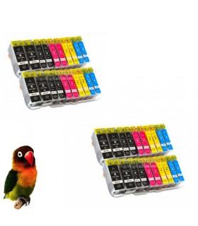 (pgi-5bk, cli-8bk/c/m/y) CANON Pack 40 tintas (con chip) compatibles canon