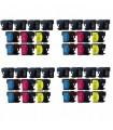 Brother LC1280 pack 40 cartuchos tinta compatibles (bk-c-m-y)