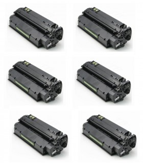 pack 6 Toner HP 13x Q2613X Nº13x Negro COMPATIBLE para HP LaserJet 1300