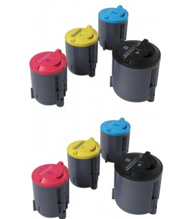CLP-350/CLP-351 pack 8 tóners compatibles Samsung CLP-350 CLP-351 (bk-c-m-y)