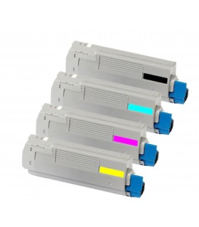 Oki C610 (bk-c-m-y) pack 4 toners compatibles