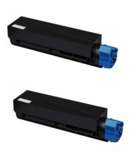 pack 2 Toner compatible OKi B401/MB441/MB451