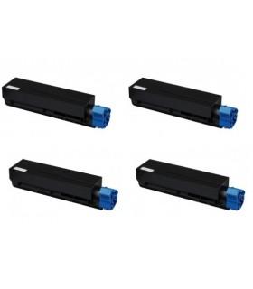 OKi B401/MB441/MB451 pack 4 Toner compatible