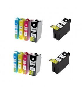 T1301/2/3/4 EPSON Pack 10 tintas compatibles Epson T1301 - T1302 - T1303 - T1304