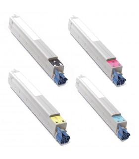 pack 4 toners OKI C9000 / C9100 / C9200 / C9400 / EXECUTIVE 3037  compatibles BK-C-M-Y