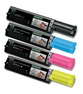 Epson Aculaser C1100 - CX11 PACK 4 toners compatibles (BK-C-M-Y)