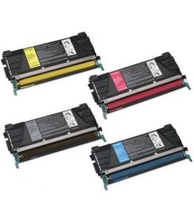 C734 / C736 / X734 / X736 / X738 PACK 4 toner LEXMARK (BK-C-M-Y) compatibles