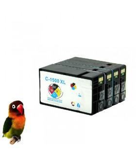 PACK PGI-1500XL 4 cartuchos compatibles (bk-c-m-y) Canon Maxify MB2000 / MB2050 / MB2300 / MB2350