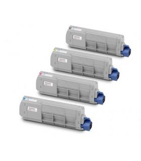 OKI MC851 / MC861 PACK 4 toners (BK-C-M-Y) compatibles