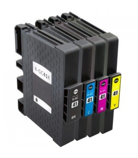 GC41 RICOH PACK 4 cartuchos (BK-C-M-Y) compatibles gel