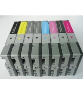 PACK 8 TINTAS T603 serie Epson STYLUS PRO 7880 STYLUS PRO 9880 cartuchos compatibles