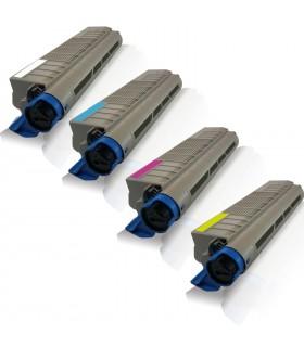 PACK 4 TONER OKI ES5460 MFP / ES2232 / ES2632 BK-C-M-Y toners compatibles