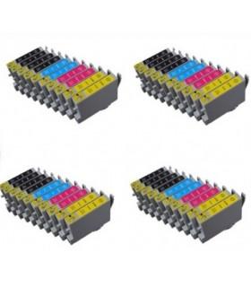 epson T0441/2/3/4  pack 40 cartuchos compatibles  c64 - c66 - cx3650 - c86 - c84 -cx 6600