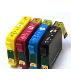 T1631-2-3-4 EPSON Pack Cartuchos compatibles Epson T1631 - T1632 - T1633 - T1634 16XL