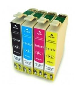 T1811/2/3/4 Pack tintas comp. T1811/2/3/4  / 18XL  : XP-102 , XP-202 , XP-205 , XP-30 , XP-302 , XP-305 , XP-402 , XP-405