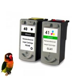 Canon PG40 negro+ CL41 color pack tintas compatibles