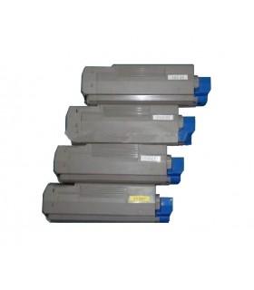 Oki C5850/C5950/MC560 pack 4 toners compatibles Oki C5850/C5950/MC560