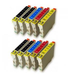 Epson T0611-T0612-T0613-T0614 pack 10 cartuchos compatibles