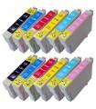 Epson T0801-T0802-T0803-T0804-T0805-T0806 pack 12 tintas compatibles