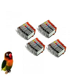 (pgi-5bk, cli-8bk/c/m/y) Pack 20 cartuchos tinta (con chip) compatibles canon