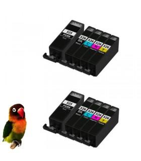 Canon pgi-525bk/cli-526(bk, cy, m, y)  Pack 10 tintas compatibles (con Chip)