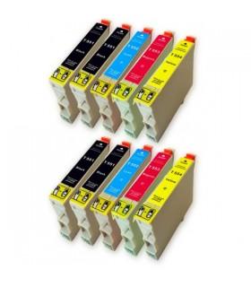 Epson T0551+T0552+T0553+T0554 pack 10 tintas compatibles