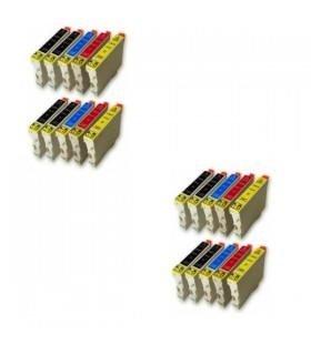 Epson T0611-T0612-T0613-T0614 pack 20 cartuchos compatibles