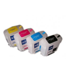 HP 10 / HP 82 pack 4 tintas HP 10 BK HP 82 (Cián-Magenta-Amarillo) Designjet 500 Designjet 800-815-820