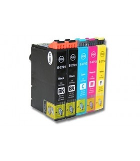 T2711/2/3/4 PACK 5 tintas compatibles Epson WF-3620 / WF-3640 / WF-7110 / WF-7620 / WF-7640