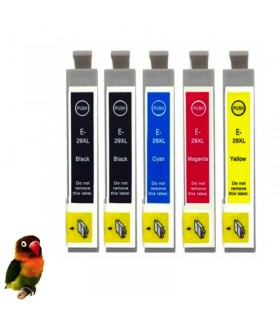 pack 5 tintas EPSON T2991/2/3/4 (29XL) compatibles Epson xp-235 / xp-330 / xp-332 / xp-335 / xp-43